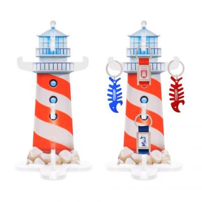 Acryl Leuchtturm Schlüsselanhä